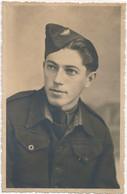 Carte-Photo : Portrait Militaire : Aviateur - Aviation - Insigne Calot (BP) - Guerra, Militares