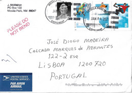 US Cover To Portugal With Extreme Sports Stamps - Cartas