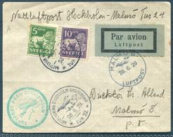 1929 Sweden Stockholm - Amsterdam First Night Flight Cover - Malmo - Briefe U. Dokumente