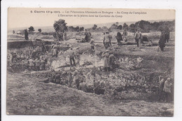 CP MILITARIA Les Prisonniers Allemands En Bretagne.Camp De Coetquidan.Extraction De La Pierre - Guerra 1914-18