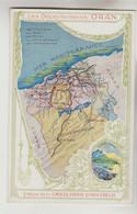 CPA PUBLICITE CHOCOLATERIE D'AIGUEBELLE - Carte Géographique : Département D'ORAN Algérie - Publicidad
