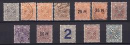 Wuerttemberg - Dienstmarken - 1916/19 - Michel Nr. 237/240 + 251 + 254/257 - Gestempelt/Ungebr. - Wurttemberg