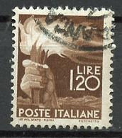 Italie - Italy - Italien 1945-48 Y&T N°489 - Michel N°690 (o) - 1,20l Flambeau - Usados