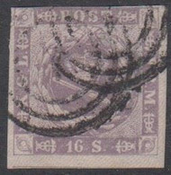 1857. Dotted Spandrels. 16 Skilling Grey-lilac Cancelled 1. (Michel 6) - JF413942 - Oblitérés