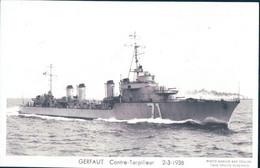 Bateau De Guerre, Marine Française Le Gerfaut Contre-Torpilleur (2.3.38) - Guerra
