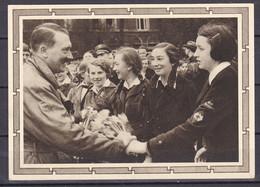 Deutsches Reich - 1938 - Propagandakarte - Adolf Hitler Mit Schüler - Ungebr. - Stamped Stationery