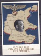 Deutsches Reich - 1938 - Propagandakarte - Ein Volk Ein Reich Ein Führer - Graz - Gestempelt - Stamped Stationery