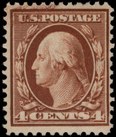 USA 1908-10 4c Yellow-brown Unmounted Mint. - Unused Stamps