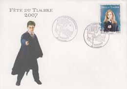 Enveloppe  FDC  1er  Jour   FRANCE   FETE  Du  TIMBRE   HARRY  POTTER     AVIGNON   2007 - Tag Der Briefmarke