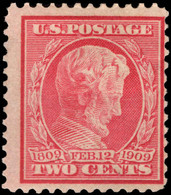 USA 1909 Birth Centenary Of Lincoln Blued Paper Mounted Mint. - Unused Stamps