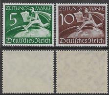 Germania Deutsches Reich 1939 Zeitungsmarken Newspaper Mi N.Z738-Z739 Complete Set MNH ** - Ongebruikt