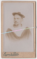 1891 - 1911 / PHOTO CDV / MARIN / CROISEUR ALGER / PHOTOGRAPHE EUGENE DE PARIS - TOULON - Barcos
