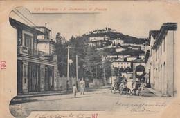 FIRENZE-SAN DOMENICO DI FIESOLE-BELLA ANIMAZIONE-CARTOLINA  VIAGGIATA IL 28-6-1901 - Firenze (Florence)