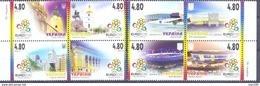 2012. Ukraine, Football EURO'2012, 8v, Mich.1236-43, Mint/** - Ukraine
