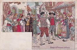 Usages Et Costumes D'Alsace -- Dessin Kauffmann --- 3013 - Alsace