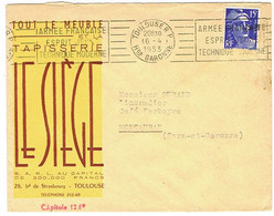 ENVELOPPE  A EN-TETE TOUT LE MEUBLE LE SIEGE TOULOUSE - 1921-1960: Periodo Moderno