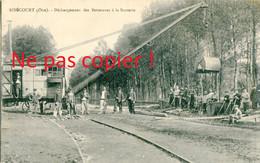 CARTE POSTALE ANCIENNE ANIMEE - DECHARGEMENT DES BETTERAVES A LA SUCRERIE DE RIBECOURT PRES DE PIMPREZ - NOYON VERS 1910 - Ribecourt Dreslincourt