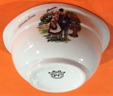 Bol à Oreilles Normandie Vimoutiers (Orne) Porcelaine PF (Porcelaine Française) Fabrication Artisanale - Other