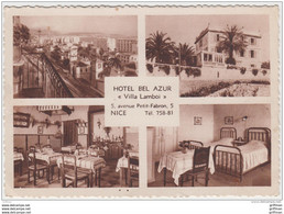 NICE HOTEL BEL AZUR VILLA LAMBOI 5 AVENUE PETIT FABRON TBE - Cafés, Hotels, Restaurants