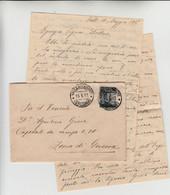 Valle Di Cadore Per Zona Di Guerra, Cover Con Contenuto 15/05/1917 - Paketmarken