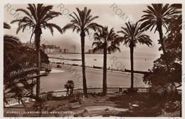 """CARTOLINA  NAPOLI ,CAMPANIA,GIARDINO DEL GRAND""""HOTEL,BELLA ITALIA,LUNGOMARE,CULTURA,STORIA,RELIGIONE,VIAGGIATA 1936 - Napoli"""