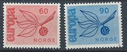 Norvège YT 486-487 Neuf Sans Charnière - XX - MNH Europa 1965 - Unused Stamps