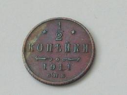 1/2 Kopeks - Kopecks 1911  - Empire RUSSE - Russia - Russie - **** EN ACHAT IMMEDIAT ***** - Rusland