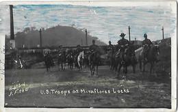 ETATS UNIS USA - U.S. Troops At Miraflores Locks - Cad Wichita Falls Texas - 1933 - Other Topics