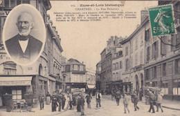 [28] Eure Et Loir  Chartres La Rue Delacroix  Médaillon Eugene Delacroix Pharmacien Maire - Chartres
