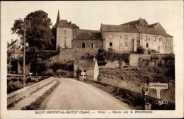 CPA Saint Benoit Du Sault Indre, Pont, Route Sur Le Portefeuille - Autres Communes