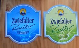 THEME VELO - CYCLISME : LOT DE 2 ETIQUETTES ZWIEFALTER RADLER - NEUVES - Beer