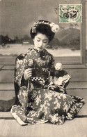 VIETNAM TONKIN  INDOCHINE Une Geisha Japonaise Avec Sa Poupée ........... ( Postée Du Vietnam ) - Vietnam