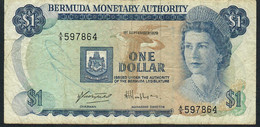 BERMUDA P28b 1 DOLLAR 1.9.1979    FINE Writings NO P.h. - Bermudas