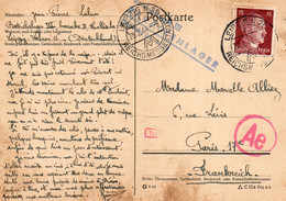 LEIPZIG - ENTIER POSTAL AVEC CENSURE - Correspondance D'un Prisonnier - Betriebslager III - BARACKENLEGER - 26.02.1944 - Postales - Usados