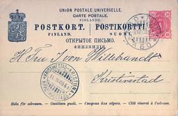 1900  SUOMI / FINLANDIA  ,  TARJETA ENTERO POSTAL CIRCULADA , TURKU / ABO - KRISTINESTAD - Postal Stationery