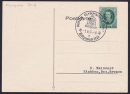 German Reich, 1936, Berlin Olympics, Commemorative Cancellation, Olympic Village - Estate 1936: Berlino