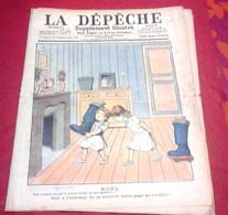 La Dépêche Suppl Illustré Toulouse N°52 Décembre 1903 Noël, Pompiers Dessins Lebèque Valle Crète - Otros