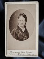 Photo CDV  Tourtin à Paris  Portrait Femme  (Mme Maurin 1876) - L536 - Old (before 1900)