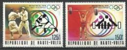 """Hte-Volta Aerien YT 201 à 202 (PA) """" JO Montréal """" 1976 Neuf** - Alto Volta (1958-1984)"""