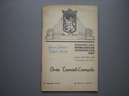 GENT - GAND - KNS - Schouwburg - Toneel - Programma - Raf Verhulst - 1942 - Gent