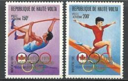 """Hte-Volta Aerien YT 213 & 214 (PA) """" Vainqueurs Aux JO """" 1977 Neuf** - Alto Volta (1958-1984)"""