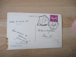 Andlau Recette Auxiliaire Obliteration Lettre Cachet Hexagonal - 1921-1960: Modern Period