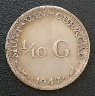 CURACAO - ANTILLES NEERLANDAISES - 1/10 GULDEN 1947 - Argent - Silver - Wilhelmina - KM 43 - NEDERLANDSE ANTILLEN - Curacao