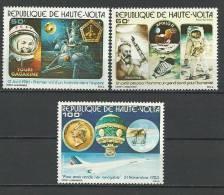 """Hte-Volta Aerien YT 216 à 218 (PA) """" Conquête De L'espace """" 1978 Neuf** - Alto Volta (1958-1984)"""