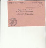 Z1 - Enveloppe   Gendarmerie DRAGUIGNAN    -  En Franchise - - Bolli Militari A Partire Dal 1940 (fuori Dal Periodo Di Guerra)
