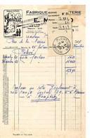 F 15 1958. Marque Le Menhir  Fabrique De Bonneterie à Rennes - 1950 - ...