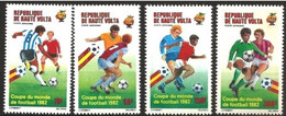 "Hte-Volta Aerien YT 233 à 236 (PA) "" Coupe Monde Football "" 1982 Neuf** - Alto Volta (1958-1984)"