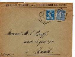 F 15 192... Lettre Entete Zeller Freres à Oberbruck - 1921-1960: Moderne