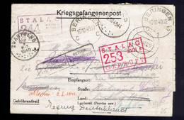 Kriegsgefangenpost  Stalag XVII B30 9 40 => Belgique ( Voir Trajet 2 Scans, Spectaculaire !!!!! ) Et Terug Deutschland - Covers