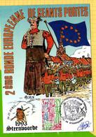 STEENVOORDE 2Eme Ronde Europeenne  De  GEANTS Portés  1993 Timbre - Steenvoorde